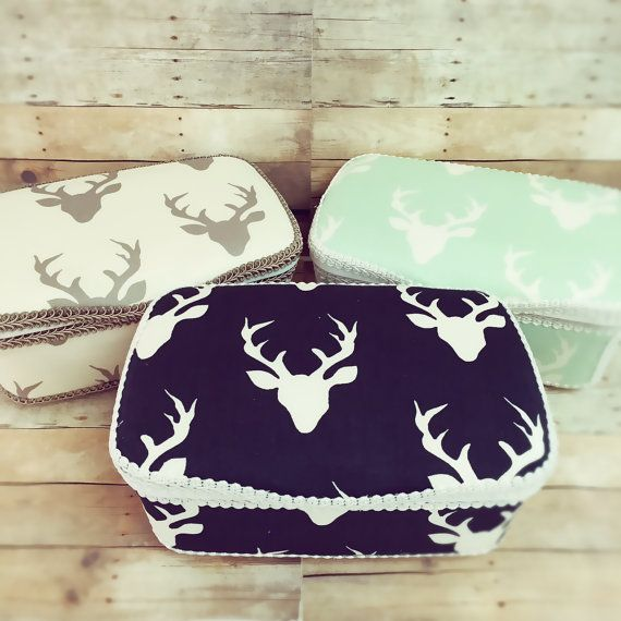 Antler baby wipes case deer diaper pouch bohemian baby by Ajobebe