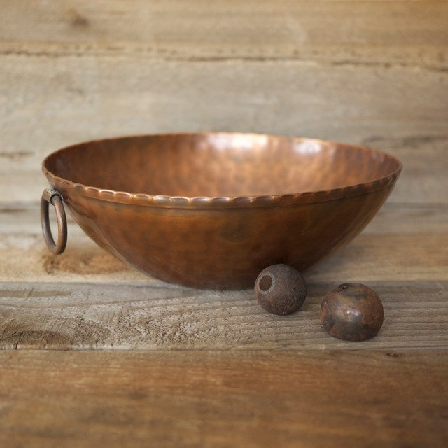 craftsman studios handmade copper bowl.
