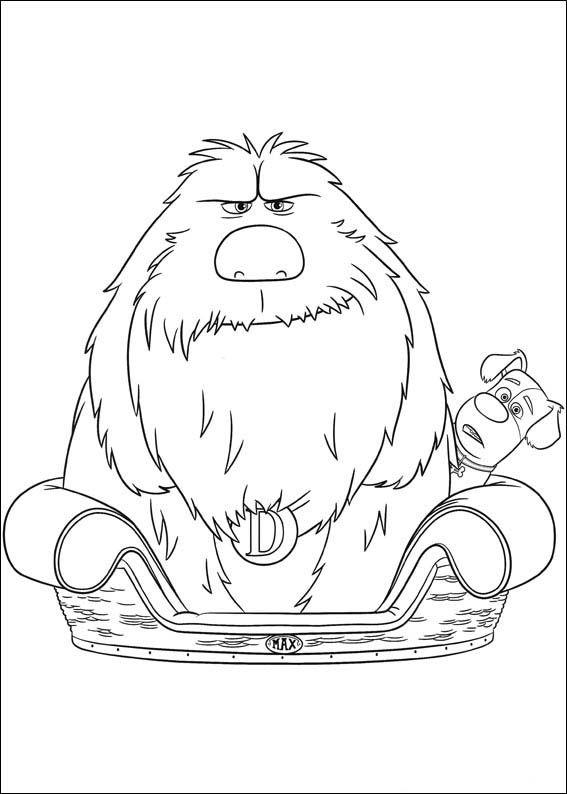 25 best disney the secret of pets coloring pages
