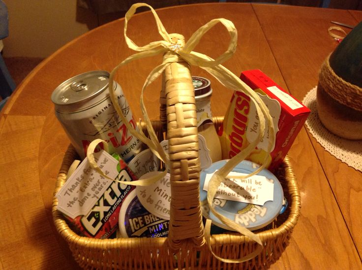 Going away gift basket for friend or coworker Employee