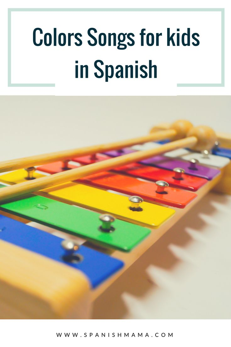 Songs about the colors in Spanish for kids and toddlers (canciones infantiles de los colores).
