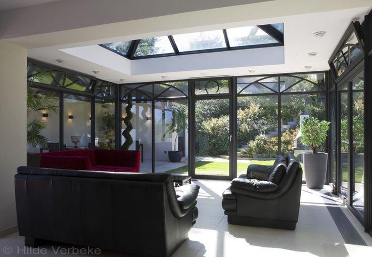 Oranjerie met zicht op zwembad poolhouse aluminium veranda leefveranda de mooiste veranda 39 s - De mooiste verandas ...