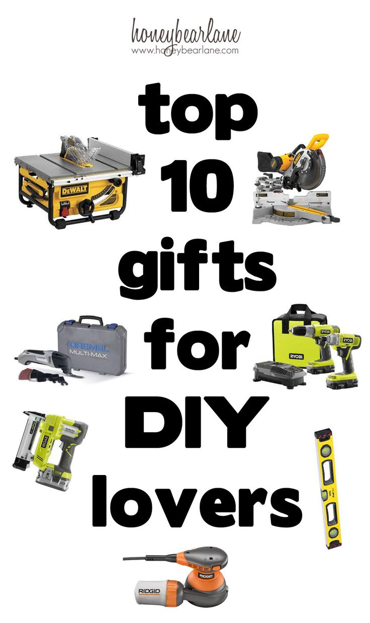 Got to buy something for a DIY lover in your life?  This is a great tool gift guide-get them anything on it!