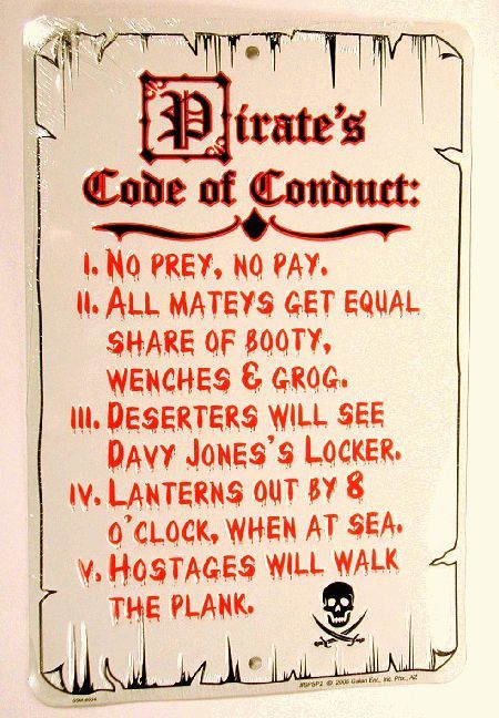 169 best Pirates, Ninjas, and Villains images on Pinterest - code of conduct example