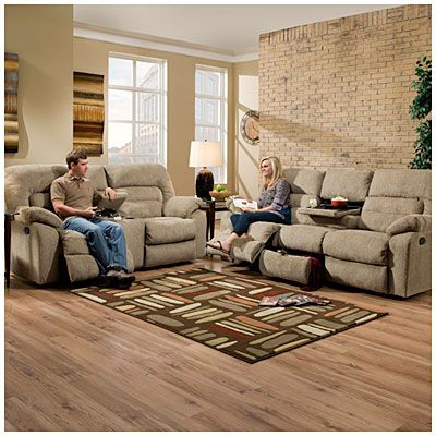 Simmons columbia stone reclining collection at big lots for Simmons living room furniture