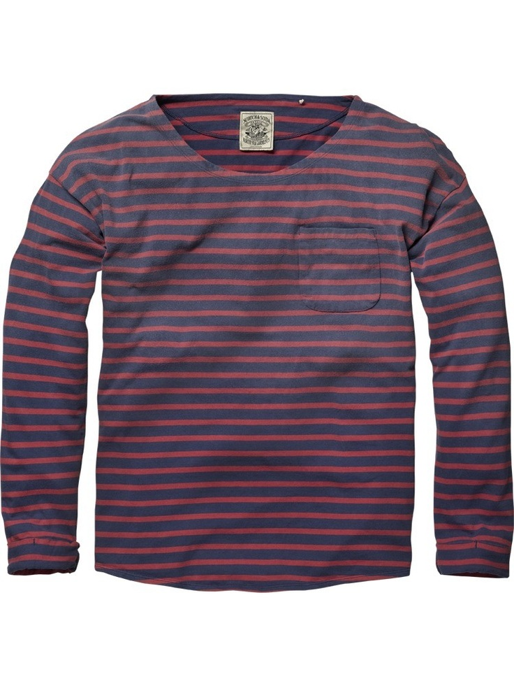 Long-sleeved sun-faded crew neck tee from Scotch & Soda; € 49,95