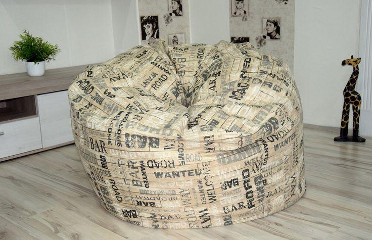 Giant, trendy, design beanbag chair, Vintage bean bag, trendy beanbag chair cover, beanbag for adults by Magicbeanbag on Etsy