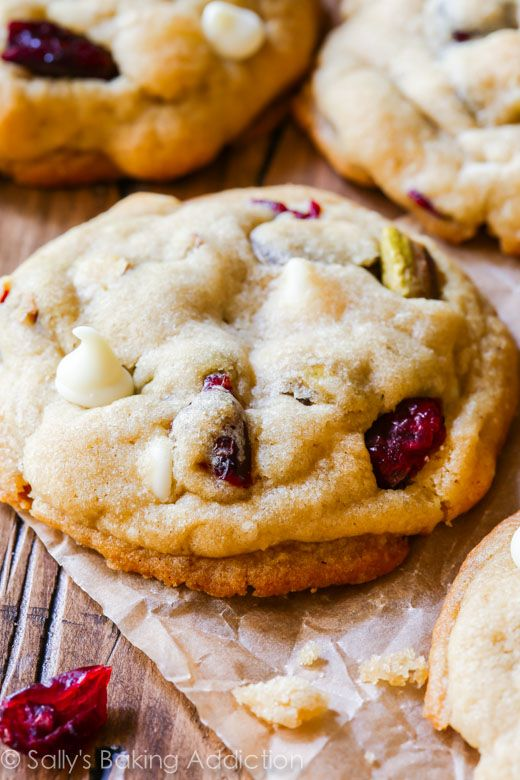 White Chocolate Cranberry Pistachio Cookies.