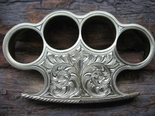 Custom Engraved Brass Knuckles
