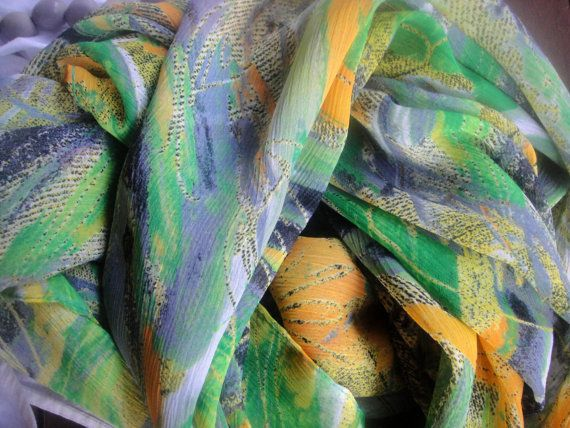 Scarf cotton with beautiful summer colors by athanasiaCREATIONS