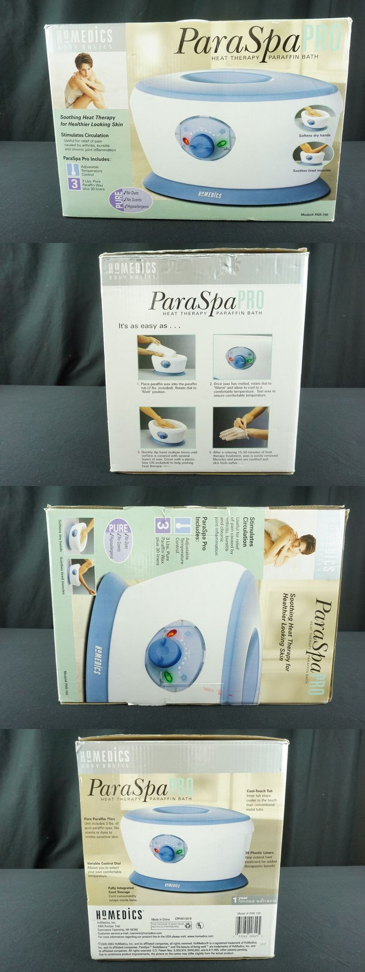 Spas Baths and Supplies: Homedics Paraspa Par-100 Paraffin Bath Heat Therapy System New In Box -> BUY IT NOW ONLY: $39.95 on eBay!