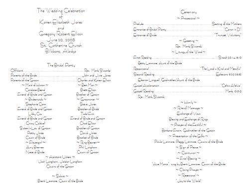 The 25+ best Wedding program samples ideas on Pinterest | How to ...