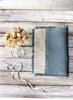 Rustic Placemats  Two Colored Burlap Table Mats  by Wonders4You