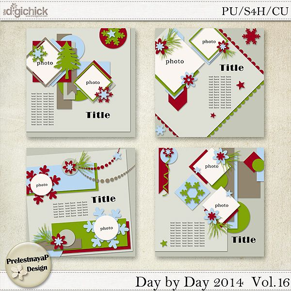 Day by Day 2014 Templates Vol.16 (CU Ok)