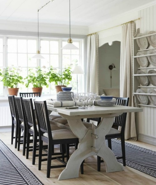 Black And White Dining Rooms Pinterest