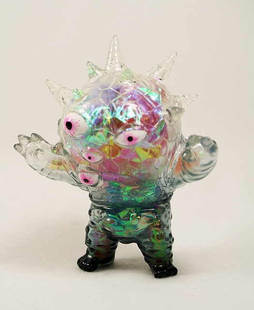 iridescent | mother-of-pearl | gleaming | shimmering | metallic rainbow | shine | Goffin x Max Toy Eyezon by maxtoycompany, via Flickr