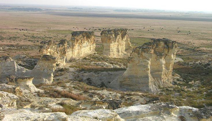Natural Stonehenge at Castle Rock Badlands;  between Quinter and Collyer, Kansas