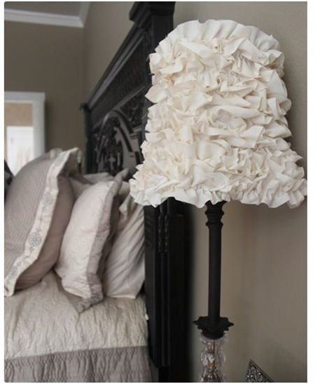 ruffles! another DIY lamp shade...would be easy to do.