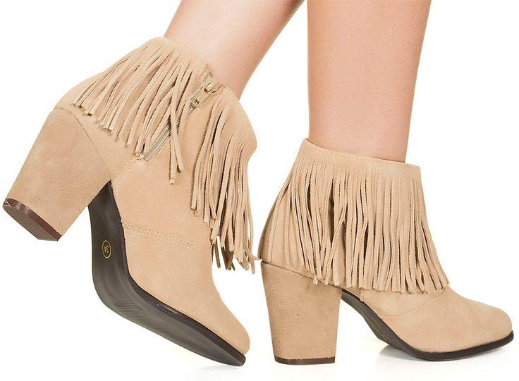 Bota de franja nude Taquilla - Taquilla - Loja online de sapatos femininos