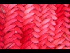 Dos agujas: cómo tejer una trenza candelabro - YouTube