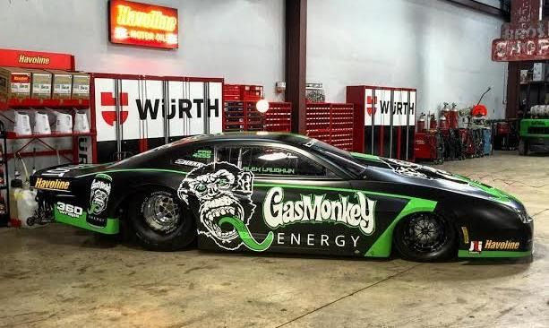 The Gas Monkey crew dragster