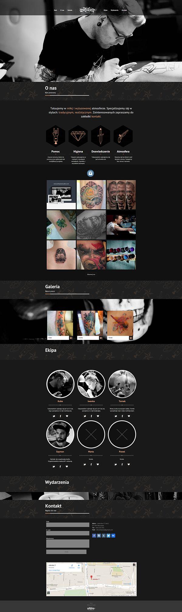 Tattoo Studio - Web Design on Behance