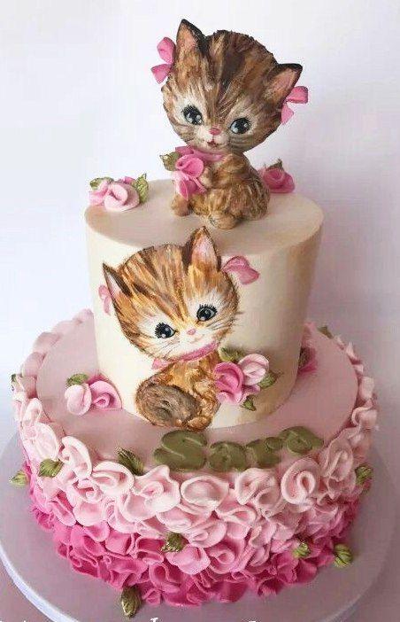 картинки котята на торт