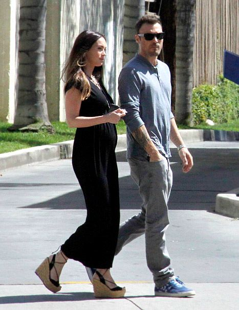Megan Fox and husband Brian Austin Green in Los Angeles on July 15, 2012.