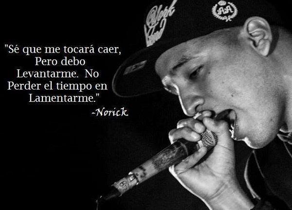 Frases de canciones de rap para el nick