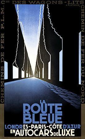 La Route Bleue   https://venusvalentino.com.au/products/vintage-posters-prints-art-deco-french-tv941