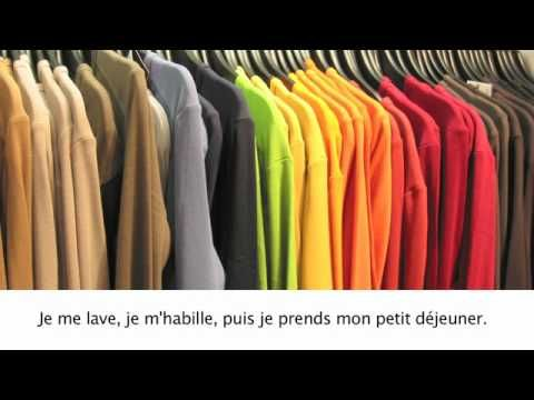 ▶ Ma journée habituelle - YouTube - daily routine in French - great to practice time, and vocabulary for daily activities #francais