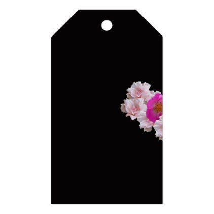 Many Heart Shaped Roses on Black Background Gift Tags - Saint Valentine's Day gift idea couple love girlfriend boyfriend design