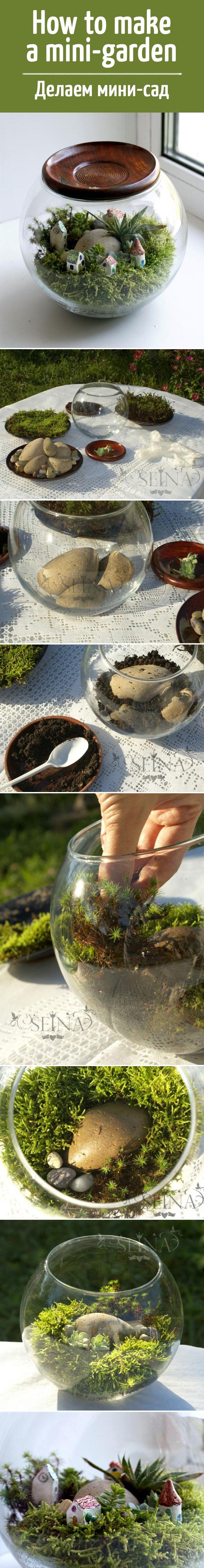 Haw to make a mini-garden / Как сделать мини-сад #мастеркласс #ручнаяработа…