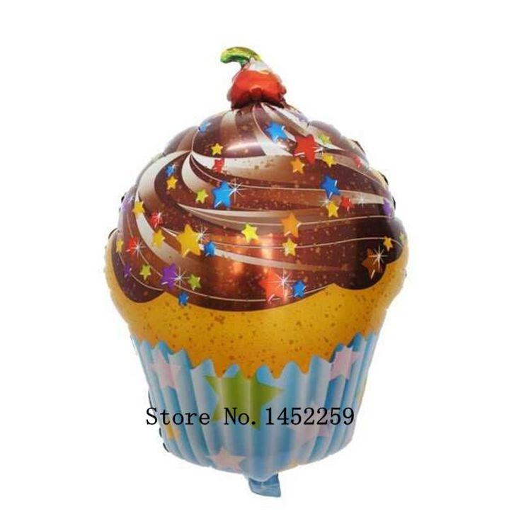 [Visit to Buy] XXPWJ Free shipping 1pcs new ice cream cake aluminum balloons birthday party balloons wholesale children's toys #Advertisement