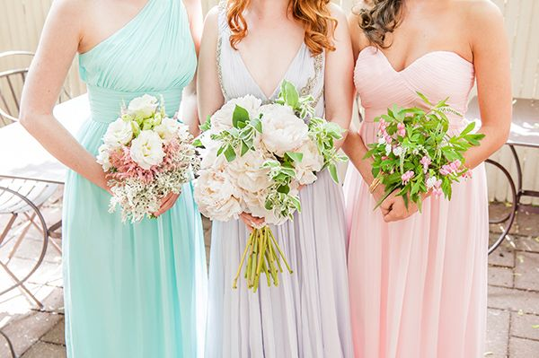 watercolor-wedding-inspiration-102 wedding chicks, bouquets, peonies, ombre, watercolor, pastels, flowers, Mikkel Paige Photography