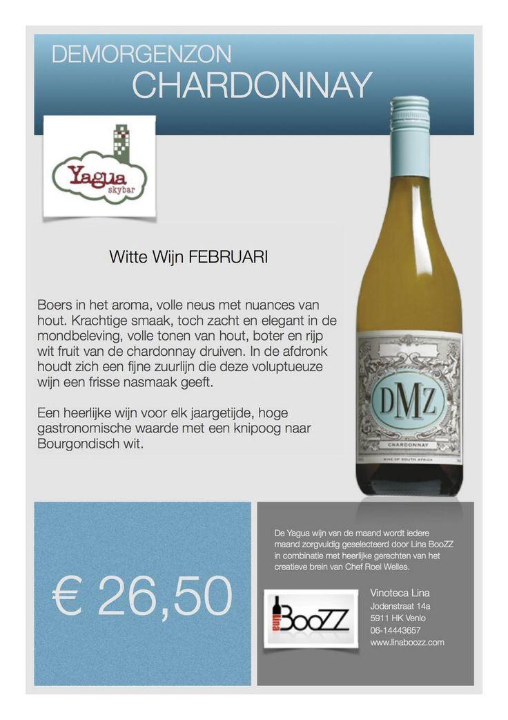 De @SkybarVenlo witte wijn vd maand, verzorgd door @Lina_BooZZ • @DMZwine Chardonnay; knipoog naar Bourgondisch wit! pic.twitter.com/UoQCbLkmyu