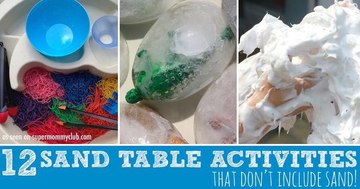 12 Super fun activities you can do with a water table