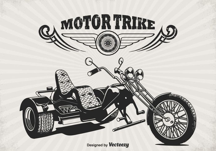 Free vector Free Retro Motor Trike Vector Poster #29178