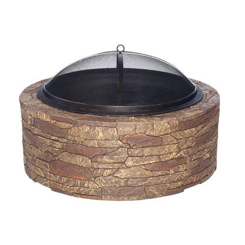 Portable Stone Fire Pit : Mosaic portable cast stone fire pit academy wish list