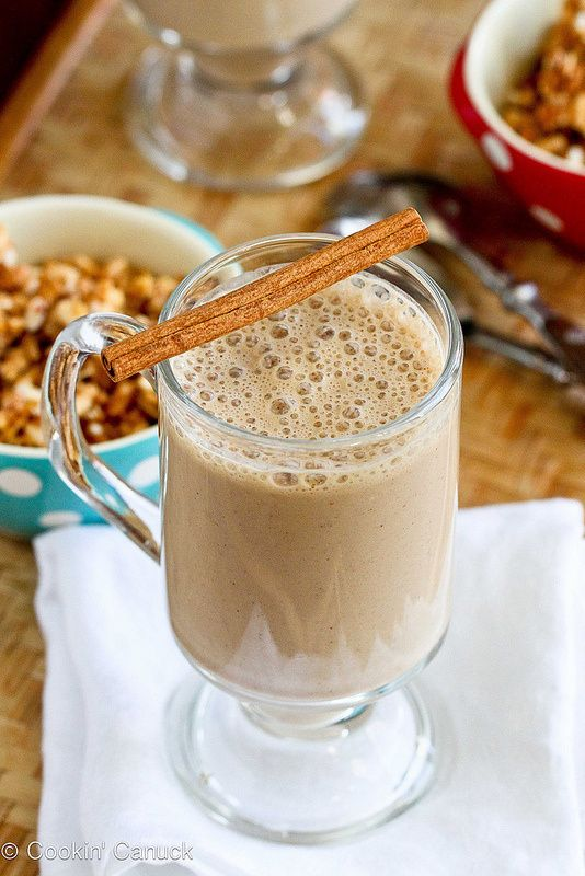 Coffee Banana Smoothie •1 cup chilled Seattle's Best brewed coffee  •1 1/2 bananas, cut into chunks  •1 cup nonfat plain Greek yogurt  •1 tbsp ground flax seed  •2 tsp honey or agave nectar  •1/2 tsp ground cinnamon  •1/4 tsp grated nutmeg  •6 ice cubes 1.Place all of the ingredients in a heavy-duty blender (one that can crush ice).  2.Blend until smooth.  Calories 126.1 / Total Fat 1.0g / Sat Fat 0.2g / Chol 3.3mg / Sodium 34.2mg / Total Carbs 21.4g / Fiber 2.4g / Sugar 13.2g / Protein 9.2g