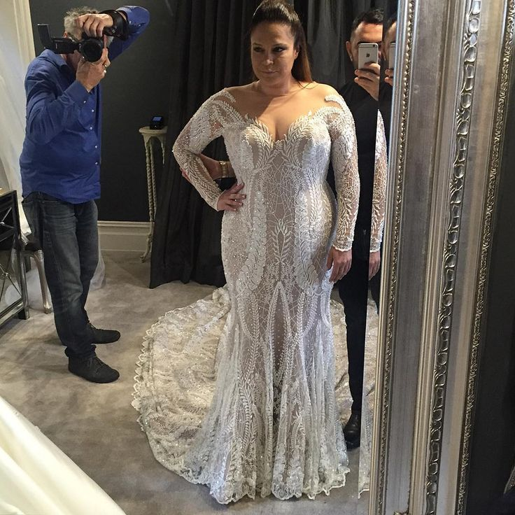 This long sleeve wedding gown has ornate detailing all over the entire dress. Brides can have haute couture #weddingdresses like this remade in a price range they can actually afford. We specialize in custom designs for plus size brides. We also can make very close #replicas of haute couture bridal gowns too for brides on a tighter budget. You can get pricing and more info on our process when you contact us from our site at www.dariuscordell.com