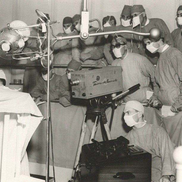 Always a #leader in #technology, Cleveland Clinic performs a live telecast of cardiac surgery in 1961. #tbt #throwback #history