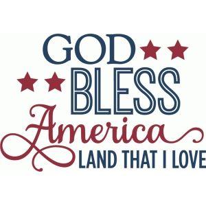 Silhouette Design Store - View Design #61941: god bless america - phrase