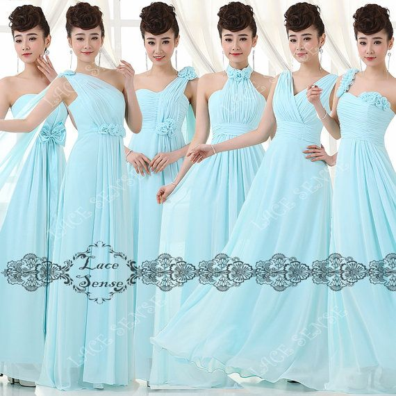 Cheap sky blue convertible bridesmaid dress wrap on Etsy, $79.00
