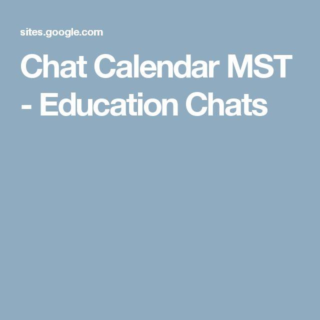 Chat Calendar MST - Education Chats