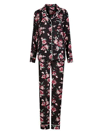 Floral Revere Collar Pyjamas | M&S