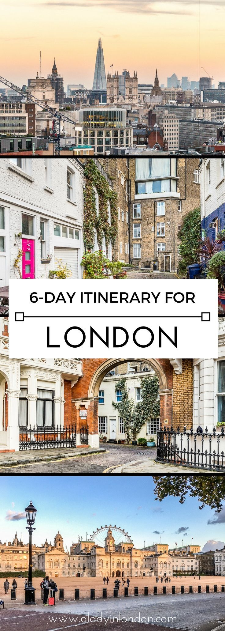 A lovely 6-day London travel itinerary for those visiting the UK capital. #london #itinerary #travel #england