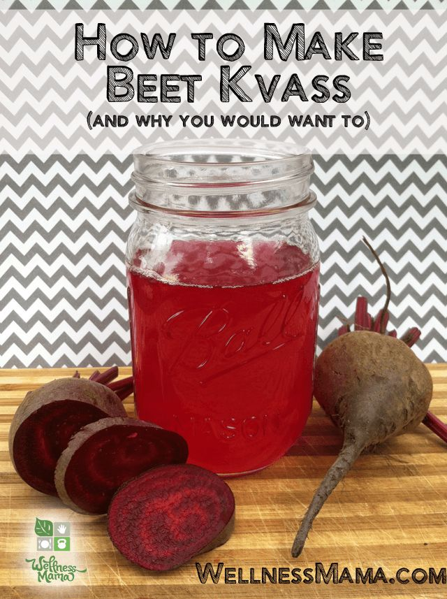 How to Make Beet Kvass - Beet Kvass is a traditional drink that contains probiotics and enzymes. It is said to purify the blood, boost energy and improve liver function. #refreshing