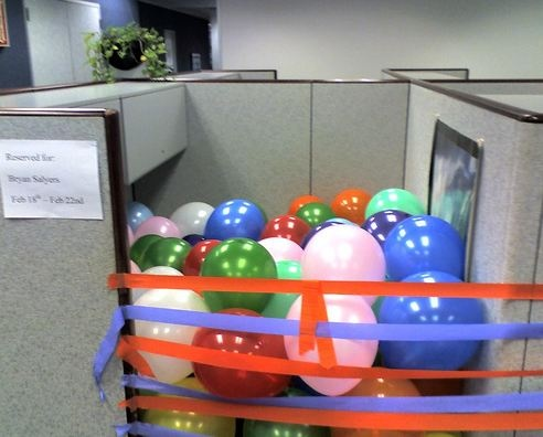 Excellent Birthday Decorations Hahaha Gotta Do This More Bday Decorations Office