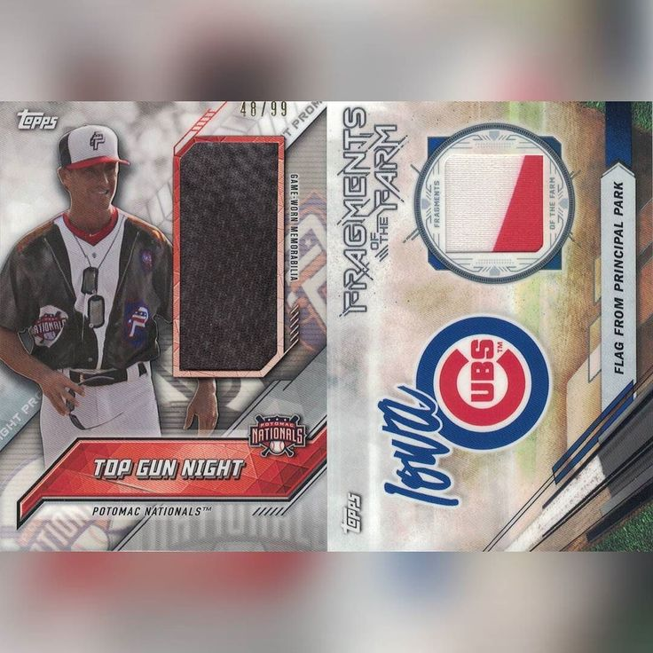 2017 Topps Pro Debut: Potomac Nationals Top Gun Night relic /99 Flag From Principal Park relic #baseballcards #baseball #collecting